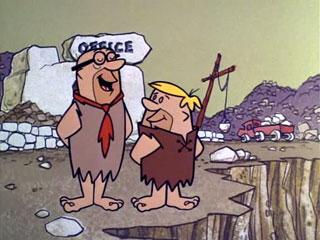 Mr. Slate and Barney Rubble