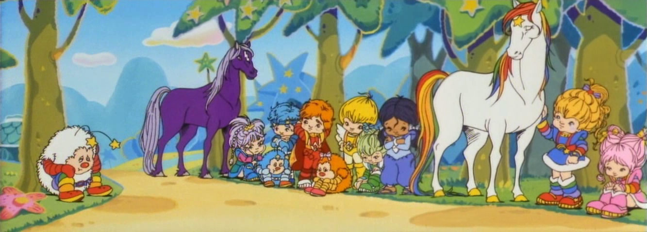 pan view of the Color Kids and Rainbow Brite