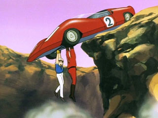 Speed Racer and Zoomer Slick find themselves in a precarious situation