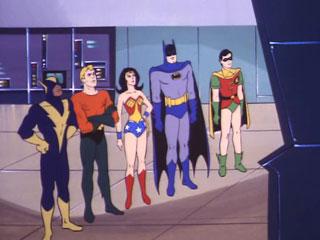 The Super Friends receive an emergency alert